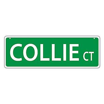 """שלט רחוב, פלסטיק, קולי קורט, 17"""" X 6"""""""
