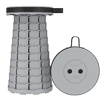 Tabouret télescopique pliant extérieur gris, tabouret en plastique portable pour le camping et la pêche az16305