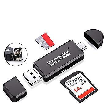 Usb 2.0 Type C Micro Usb Otg Microsd Tf Sd kártyaolvasó