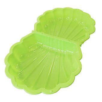 Zandbak schelp zwembad afsluitbaar – 87 x 78 x 18 cm - Groen