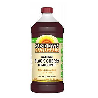 Sundown Naturals Svart Körsbär Koncentrat Vätska, 12 X 16 Oz