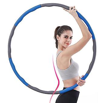 Fitness Hula Hoop For Weight Loss And Massage, Removable 8 Segments Hoola Hoop Suitable(Blue Gray)