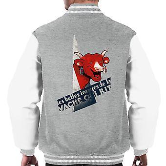 Den grinende ko et smukt billede Mænds Varsity Jacket