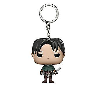 Attack On Titan Soldiers  Levi Keychain Key Ring Pendant Pvc Figures