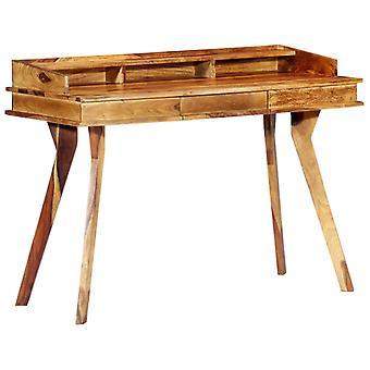 vidaXL skrivebord 115 x 50 x 85 cm massivt træ