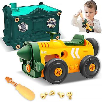 Building Toys For Kids, Take Apart Retro Toys Car With Electric Motor Toys