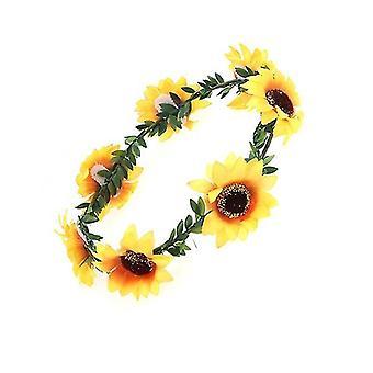 Sweety Sunflower Crown Garland Hoofdband voor Bruids