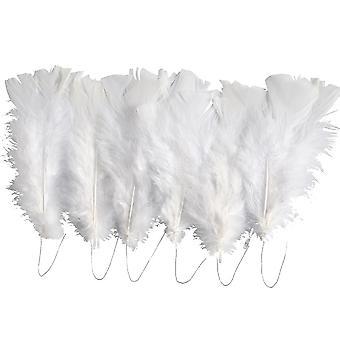 18 valkoinen valikoitu Langallinen höyhenet käsi töitä nippuja