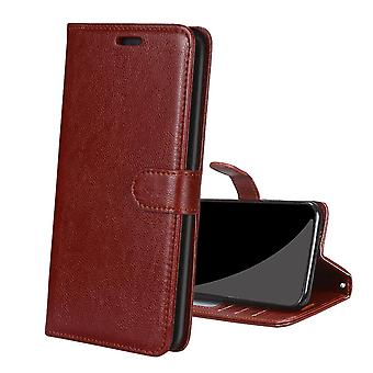 Case For Xiaomi Redmi Note 10 5g Leather Cover Bumper Coque Magnetic Closure Shockproof  - Brown