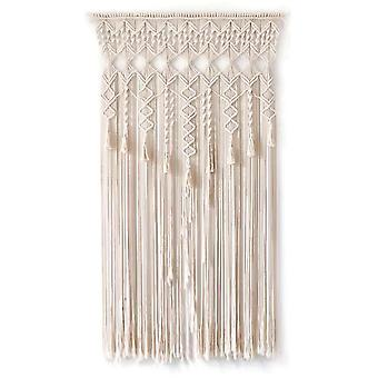 Boho Tapestry Wall Hanging Macrame Woven Door Curtain Divider Hanging Dream Catcher Tapestry