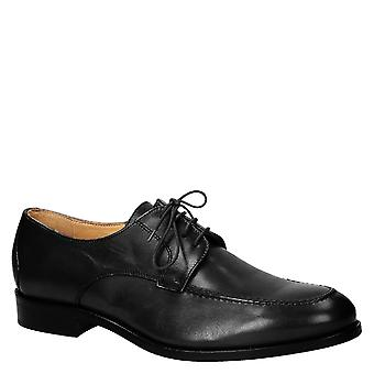 Handmade men's black dress shoes Made in Italy