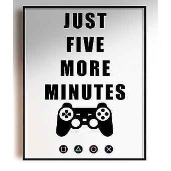 GnG Gaming A4 Ord Sitat Innrammede Plakater For Barn Soverom Kunstverk 5 Minutter PS