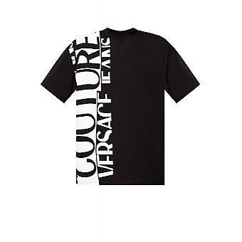 Versace Jeans Couture Printed Sidelogo Black/white T-shirt