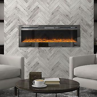 40 INCH Recessed Wall Mounted LED Electric Fireplace with 12 Flame Color