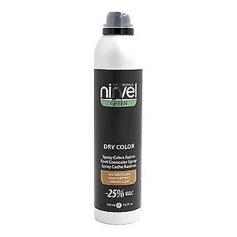 Седые волосы спрей зеленый сухой цвет Нирвел Светло-коричневый (300 мл)