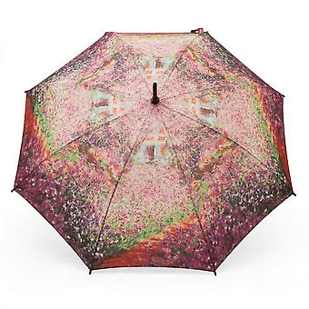 Paraply stick paraply motiv Claude Monet sommarträdgård
