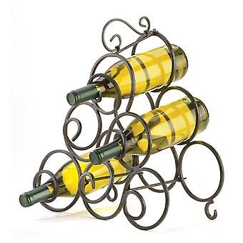 Accent Plus Wrought Iron Scroll Wine Rack, Pack of 1