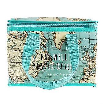 Household storage containers sass belle vintage map lunch bag