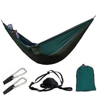 Hammocks في الهواء الطلق المحمولة التخييم المظلة النوم أرجوحة مزدوجة حديقة سوينغ هاماك شنقا كرسي flyknit