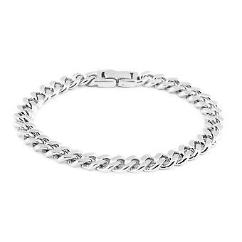 Silber Bordstein Kette Armband für Frauen Sterling gestempelt Geschenk für Frau 7,75 ''
