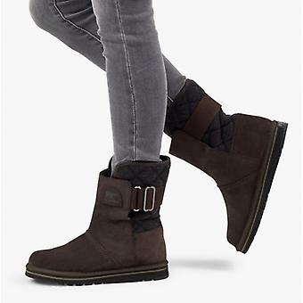Sorel Newbie Ladies Suede Water Resistant Boots Blackened Brown