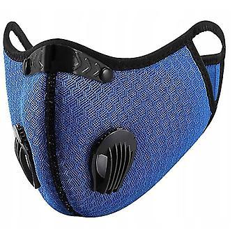 Outdoor Staub- und beschlagfreie Reitmaske mit austauschbarem Filterelement (blau)