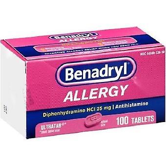 Benadryl alergia alívio Ultratabs 100 contagem