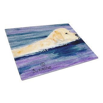 Carolines Treasures  SS8814LCB Golden Retriever Glass Cutting Board Large
