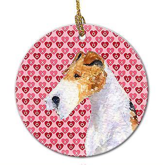 Carolines tesoros SS4478CO1 Fox Terrier adorno cerámica