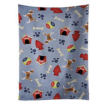 Carolines skarby BB3910KTWL Beagle Dog House kolekcja Ręcznik kuchenny