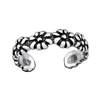 Λουλούδι-925 ασήμι στερλίνας δαχτυλίδια ποδιού-W29403X