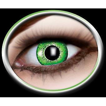 Marbled natural contact lens Grau Schwarz