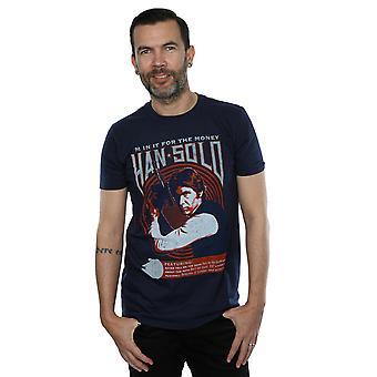 Star Wars Men's Han Solo Rock Poster T-Shirt