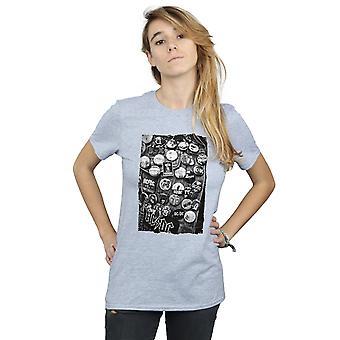 Emblemas coleção namorado ajuste t-shirt AC/DC feminino