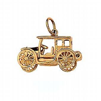9 قيراط الذهب 11x22mm المنقولة خمر سيارة قلادة أو سحر
