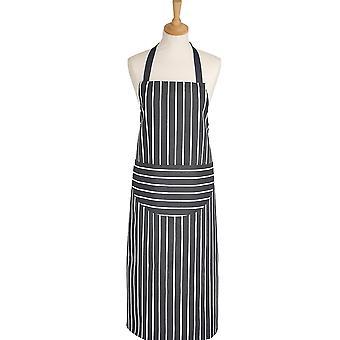 Dexam Butchers Stripe Long Apron, Slate Grey