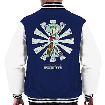 Japanse mannen Squidward Retro Varsity Jacket