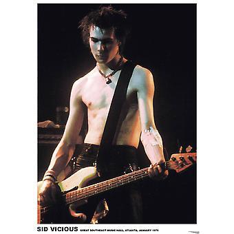 Sid Vicious Atlanta Live In Atlanta Poster Poster afdrukken