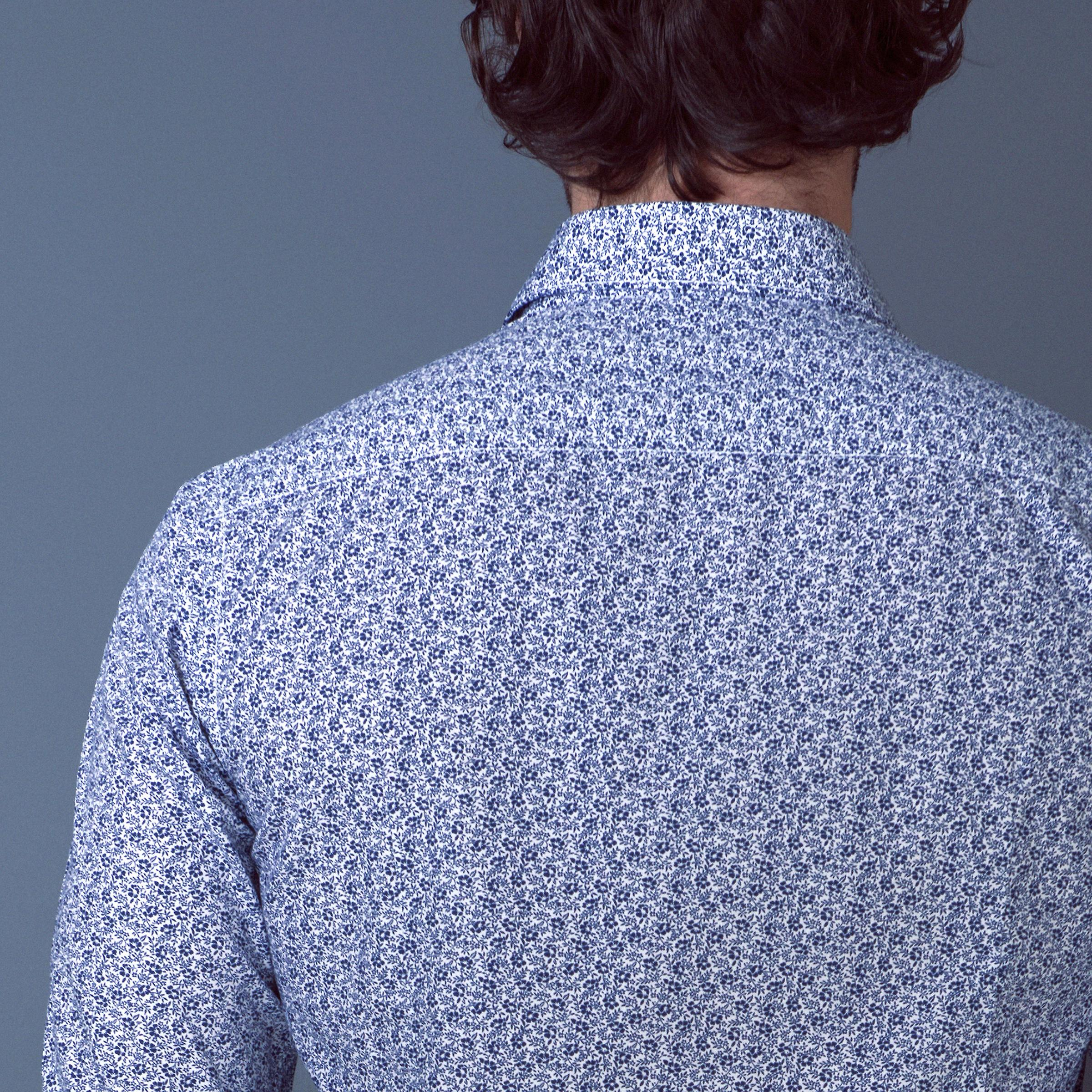 Fabio Giovanni Biccari Shirt - Mens Italian Floral Casual Shirt - Long Sleeve