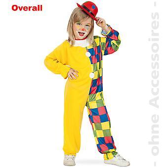 Clownkostüm clown kids jester kostym barn kostym