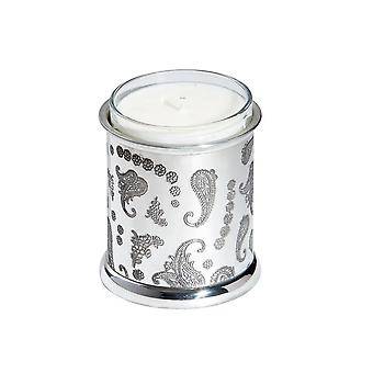 Paisley Embossed Pewter Candle Votive