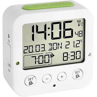 TFA Dostmann 60.2528.02 Radio Alarm clock White, Green Alarm times 2