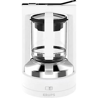 Krups KM468210 Coffee maker White Cup volume=12 incl. pressure brew unit