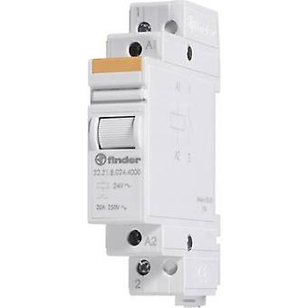 Finder 22.21.8.008.4000 Modular Contactor SPST-NO 8 V AC IP20