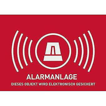 ABUS AU1322 Warning label Alarm secured Languages German (W x H) 148 mm x 105 mm