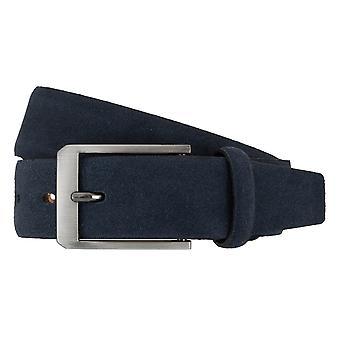 Cinturones de correa correas de hombres LLOYD correa cuero 7267 azul oscuro