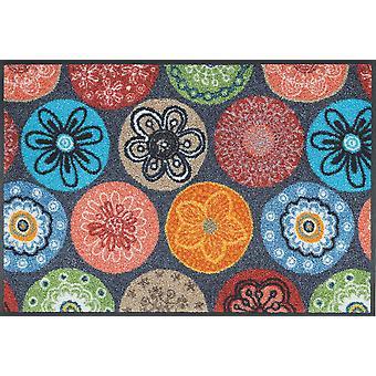 Coralis waschbare Fußmatte wash+dry Blumenmotiv