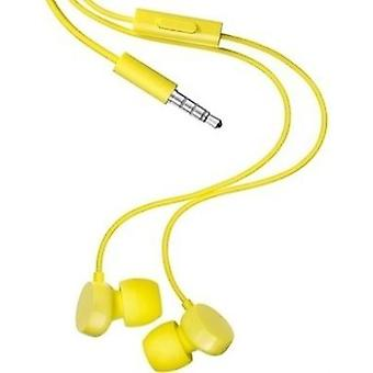 Opprinnelige Nokia WH-208 3,5 mm Stereo Headset Universal - gul