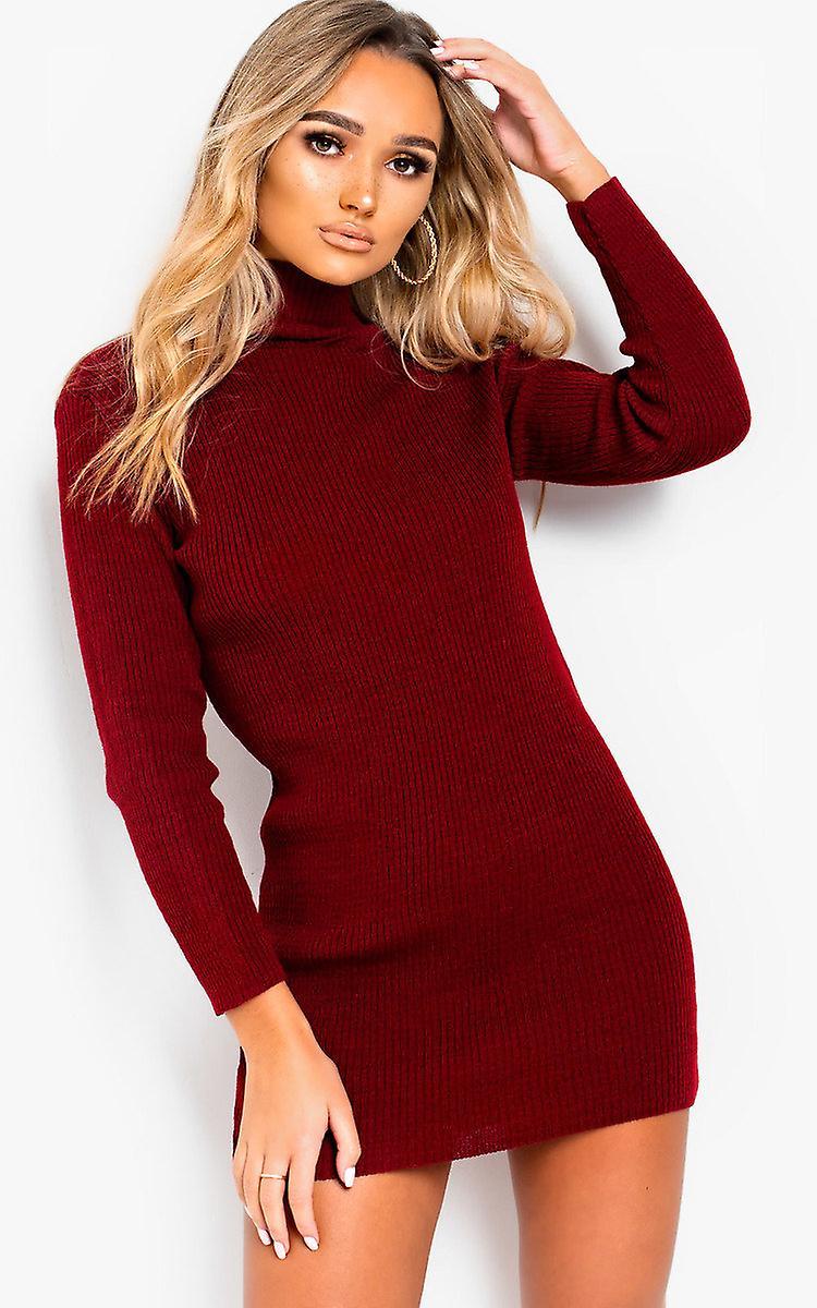 IKRUSH Womens Arina High Necked Ribbed Bodycon Dress Wqja8P
