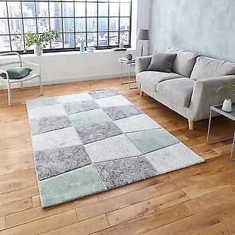 Brooklyn 22192 Rectangle vert gris tapis tapis modernes